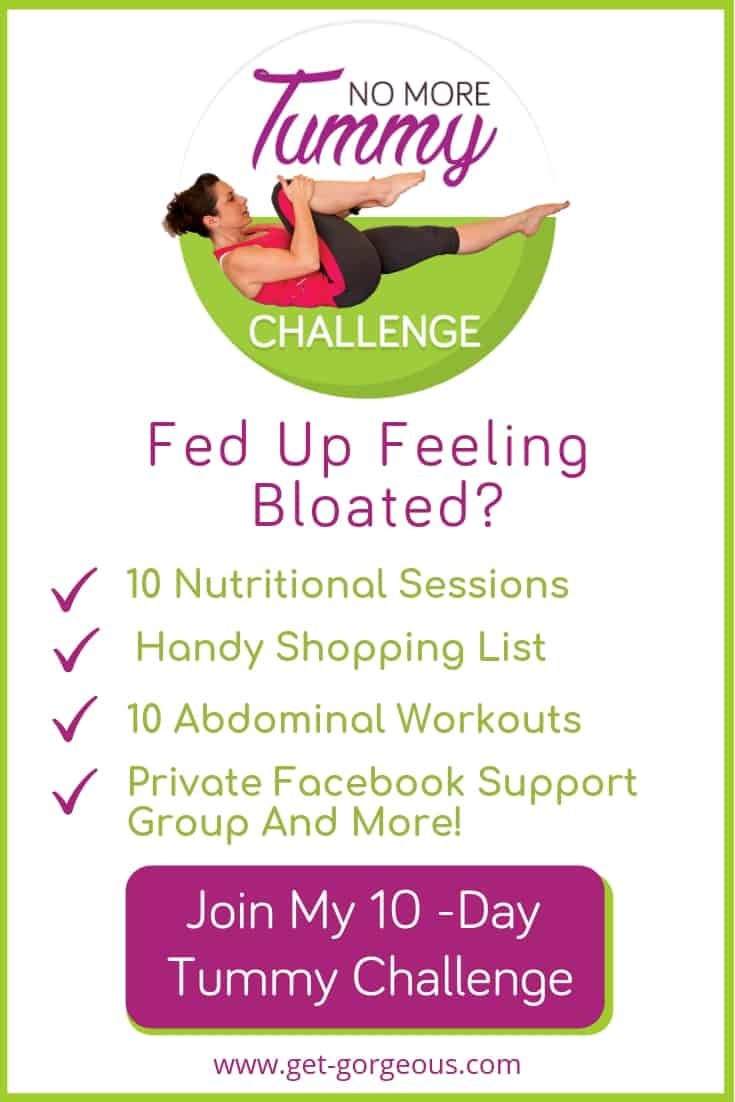 Are you looking to get a flatter tummy? Join me for a 10-day tummy challenge including workouts, nutritional tips and motivation at https://get-gorgeous.com/10-days-pilates-tummy-challenge/